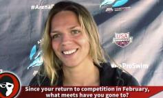 Видео интервью Юлии Ефимовой SwimSwam в Санта Кларе
